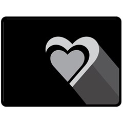 Heart Love Black And White Symbol Double Sided Fleece Blanket (large)  by Celenk
