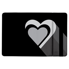 Heart Love Black And White Symbol Ipad Air Flip by Celenk