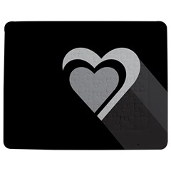 Heart Love Black And White Symbol Jigsaw Puzzle Photo Stand (rectangular) by Celenk