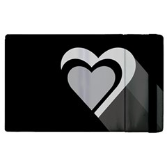 Heart Love Black And White Symbol Apple Ipad Pro 9 7   Flip Case by Celenk