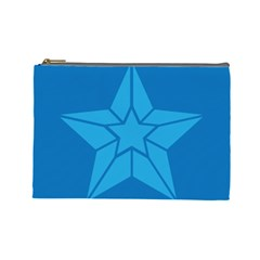 Star Design Pattern Texture Sign Cosmetic Bag (large)  by Celenk