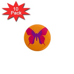 Butterfly Wings Insect Nature 1  Mini Magnet (10 Pack)  by Celenk