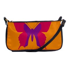 Butterfly Wings Insect Nature Shoulder Clutch Bags by Celenk