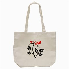 Flower Rose Contour Outlines Black Tote Bag (cream) by Celenk