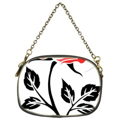 Flower Rose Contour Outlines Black Chain Purses (one Side)  by Celenk