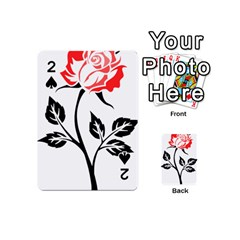 Flower Rose Contour Outlines Black Playing Cards 54 (mini)  by Celenk