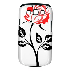 Flower Rose Contour Outlines Black Samsung Galaxy S Iii Classic Hardshell Case (pc+silicone) by Celenk