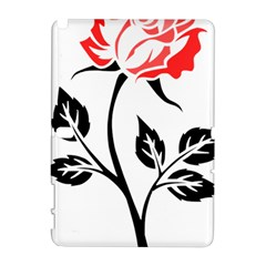Flower Rose Contour Outlines Black Galaxy Note 1 by Celenk