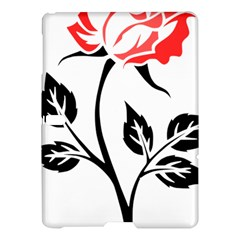 Flower Rose Contour Outlines Black Samsung Galaxy Tab S (10 5 ) Hardshell Case  by Celenk