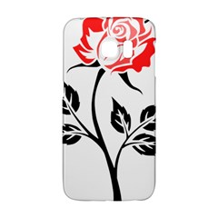 Flower Rose Contour Outlines Black Galaxy S6 Edge by Celenk