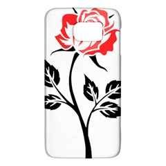 Flower Rose Contour Outlines Black Galaxy S6 by Celenk