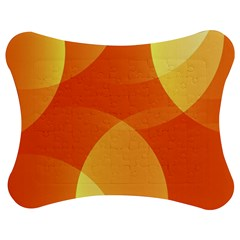 Abstract Orange Yellow Red Color Jigsaw Puzzle Photo Stand (bow) by Celenk