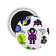 Space Clip Art Aliens Space Craft 2 25  Magnets by Celenk