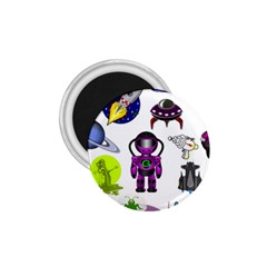 Space Clip Art Aliens Space Craft 1 75  Magnets by Celenk