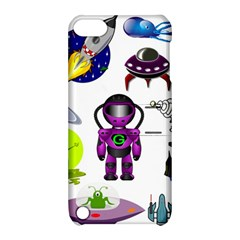 Space Clip Art Aliens Space Craft Apple Ipod Touch 5 Hardshell Case With Stand by Celenk