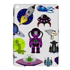 Space Clip Art Aliens Space Craft Ipad Air 2 Hardshell Cases by Celenk