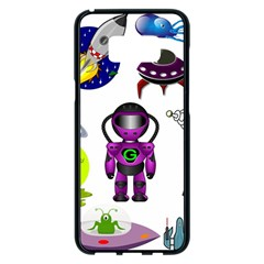 Space Clip Art Aliens Space Craft Samsung Galaxy S8 Plus Black Seamless Case by Celenk