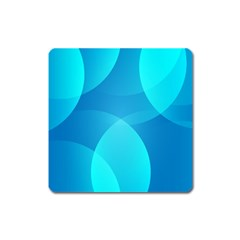 Abstract Blue Wallpaper Wave Square Magnet by Celenk