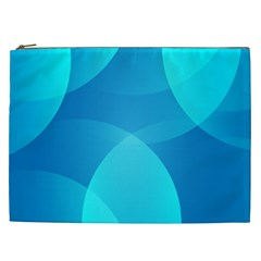 Abstract Blue Wallpaper Wave Cosmetic Bag (xxl)  by Celenk