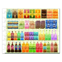 Supermarket Shelf Products Snacks Rectangular Jigsaw Puzzl by Celenk