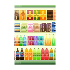 Supermarket Shelf Products Snacks Shower Curtain 48  X 72  (small)  by Celenk