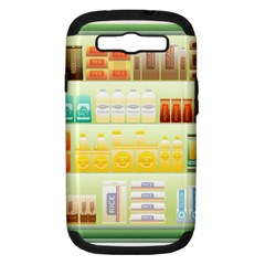Supermarket Shelf Coffee Tea Grains Samsung Galaxy S Iii Hardshell Case (pc+silicone) by Celenk