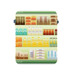 Supermarket Shelf Coffee Tea Grains Apple Ipad 2/3/4 Protective Soft Cases by Celenk