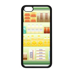 Supermarket Shelf Coffee Tea Grains Apple Iphone 5c Seamless Case (black) by Celenk