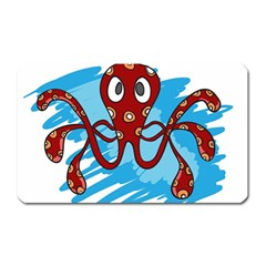 Octopus Sea Ocean Cartoon Animal Magnet (rectangular) by Celenk