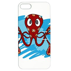 Octopus Sea Ocean Cartoon Animal Apple Iphone 5 Hardshell Case With Stand by Celenk