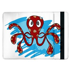 Octopus Sea Ocean Cartoon Animal Samsung Galaxy Tab Pro 12 2  Flip Case by Celenk