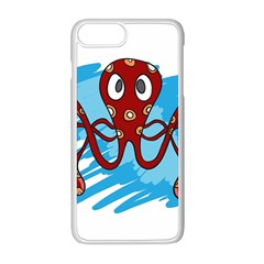 Octopus Sea Ocean Cartoon Animal Apple Iphone 8 Plus Seamless Case (white) by Celenk