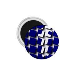 Facebook Social Media Network Blue 1 75  Magnets by Celenk