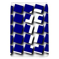 Facebook Social Media Network Blue Flap Covers (l)  by Celenk