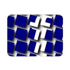 Facebook Social Media Network Blue Double Sided Flano Blanket (mini)  by Celenk