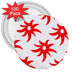 Star Figure Form Pattern Structure 3  Buttons (100 Pack)  by Celenk