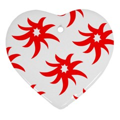 Star Figure Form Pattern Structure Heart Ornament (two Sides) by Celenk