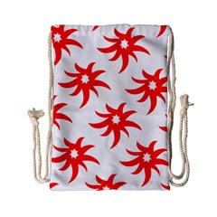 Star Figure Form Pattern Structure Drawstring Bag (small) by Celenk