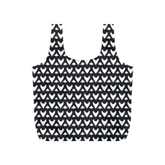 Heart Black Chain White Full Print Recycle Bags (s)  by Celenk