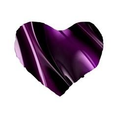 Fractal Mathematics Abstract Standard 16  Premium Flano Heart Shape Cushions by Celenk