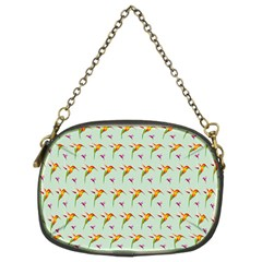 Birds Hummingbirds Wings Chain Purses (two Sides)  by Celenk