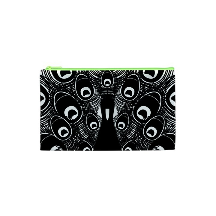 Peacock Bird Animal Feather Cosmetic Bag (XS)