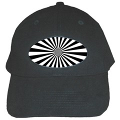 Rays Stripes Ray Laser Background Black Cap by Celenk