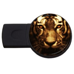 Cat Tiger Animal Wildlife Wild Usb Flash Drive Round (2 Gb) by Celenk