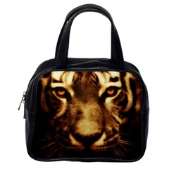 Cat Tiger Animal Wildlife Wild Classic Handbags (one Side) by Celenk