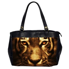 Cat Tiger Animal Wildlife Wild Office Handbags (2 Sides)  by Celenk