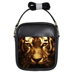Cat Tiger Animal Wildlife Wild Girls Sling Bags by Celenk