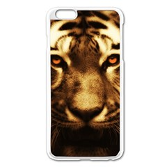 Cat Tiger Animal Wildlife Wild Apple Iphone 6 Plus/6s Plus Enamel White Case by Celenk