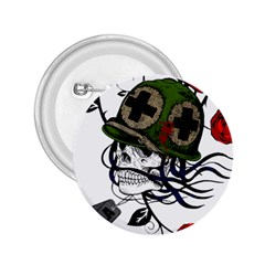 Skull Skeleton Dead Death Face 2 25  Buttons by Celenk