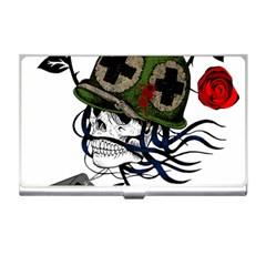 Skull Skeleton Dead Death Face Business Card Holders by Celenk